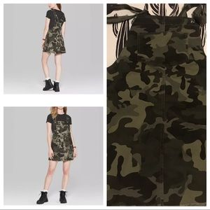 Wild Fable Camo Square Neck Overall Jumper Skirt